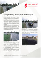 Springfield Way, Analby, Hull - Traffic Signals