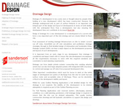 Drainage Design Website