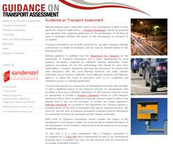 Guidance on Transport Assessment Website