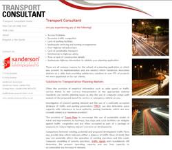 Transport Consultant Website