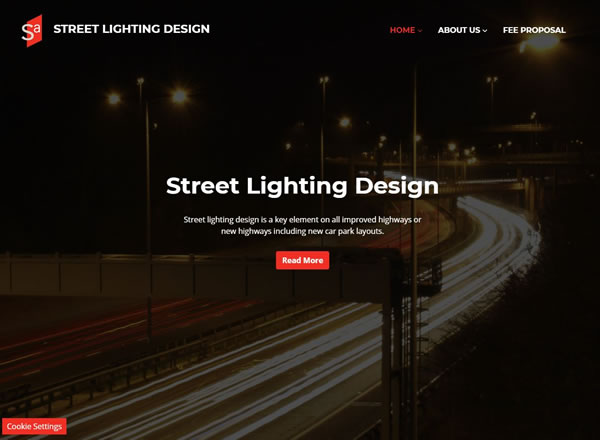 Street Lighting Design Website