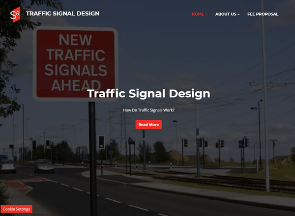 Traffic Signal Design Website